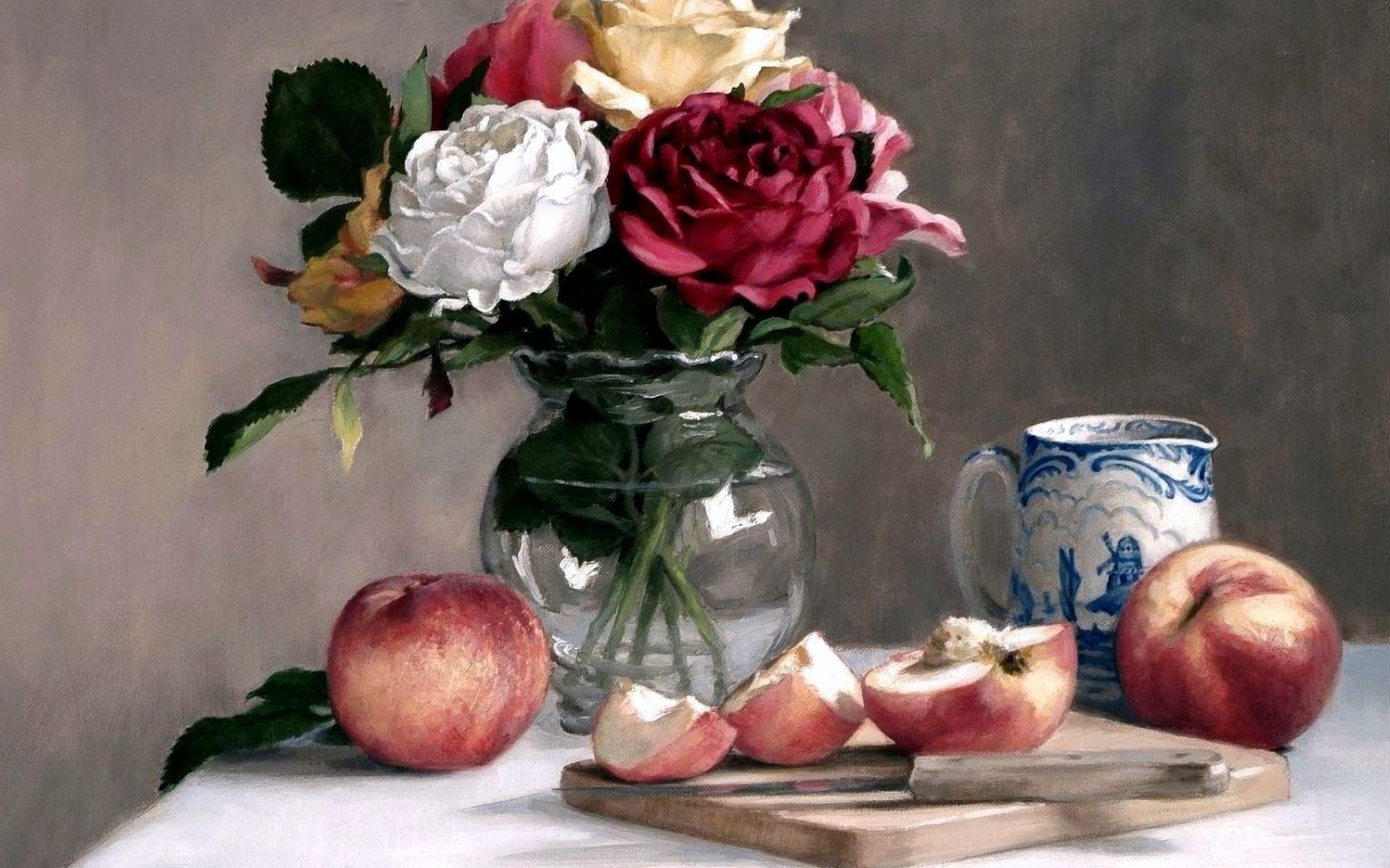 Фото и картинки с натюрмортами и цветами